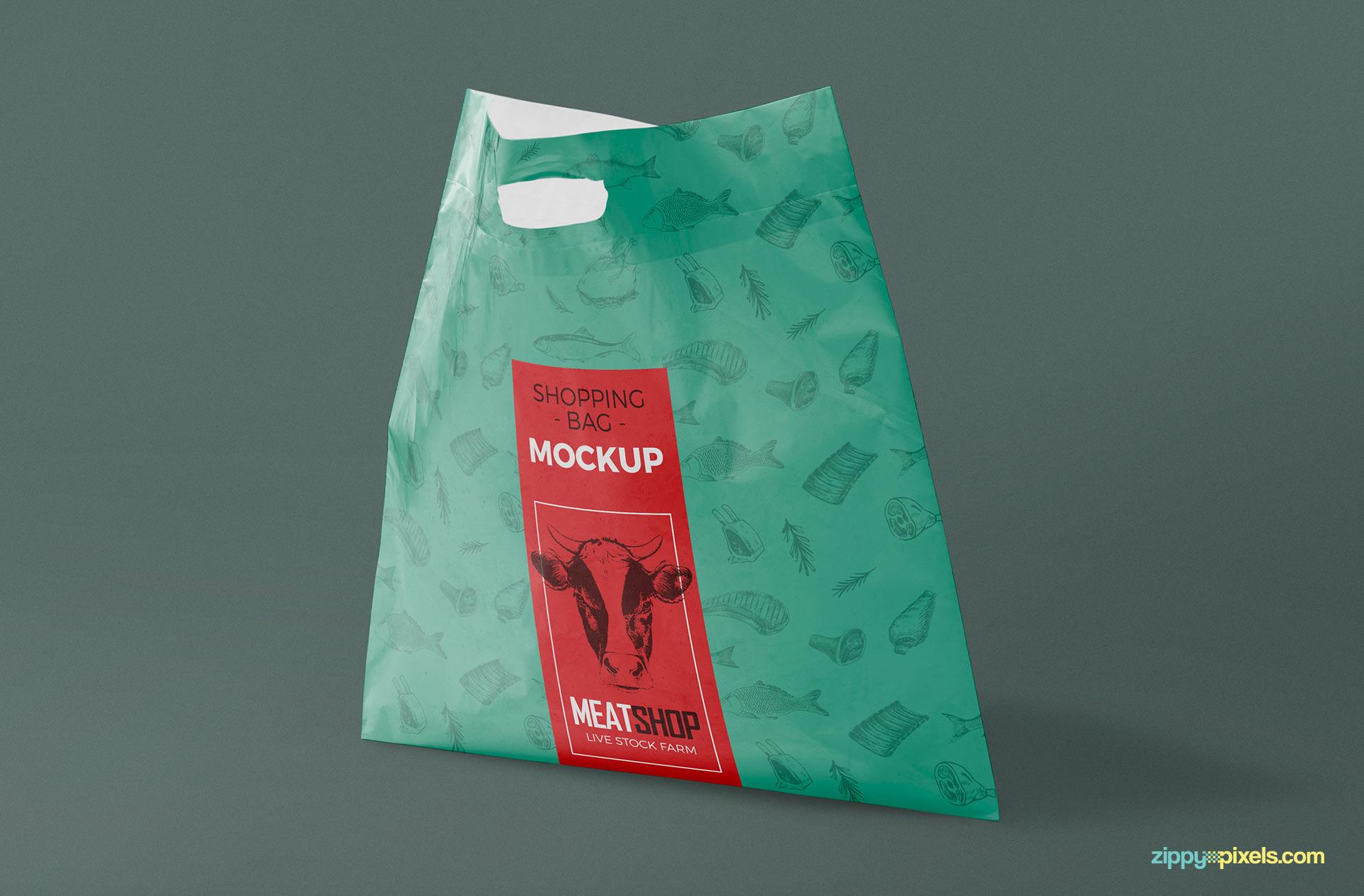 free download plastic bag psd mockup - designhooks, Powerpoint Plastic Bag Presentation Template, Presentation templates