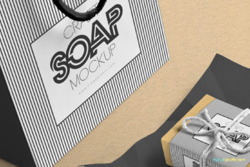 Soap Bar with Shopping Bag PSD Mockup – Fabulous Design & Flawless Features