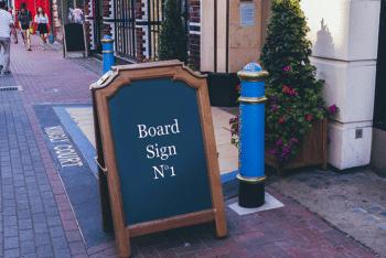 Presentable Street Signboard PSD Mockup Display