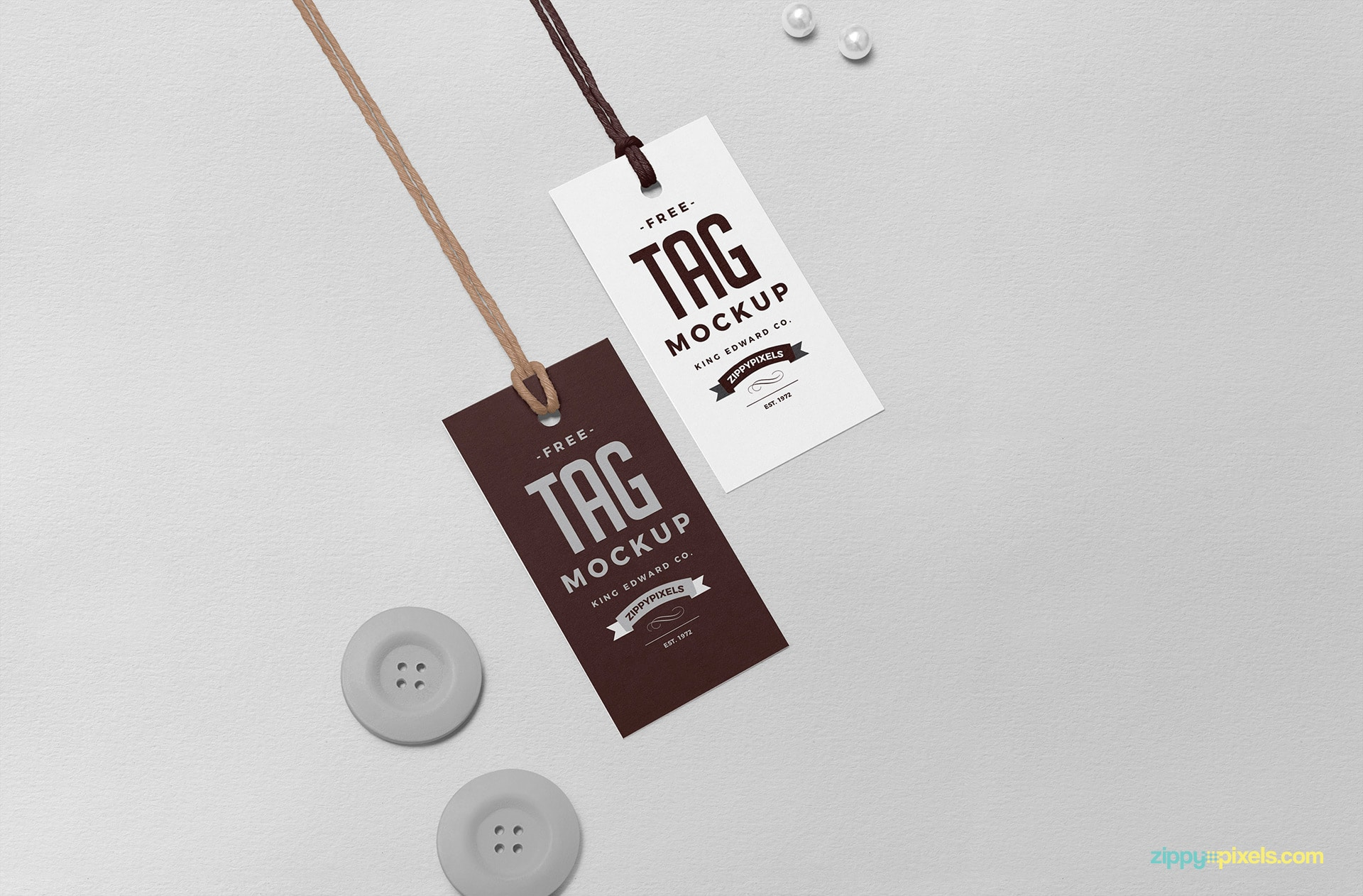 Apparel Tag PSD Mockup Design