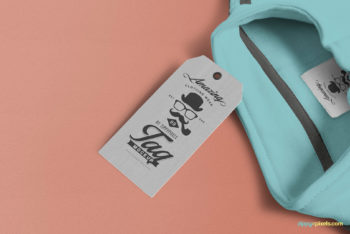 Smart Designed Apparel Price Tag PSD Mockup