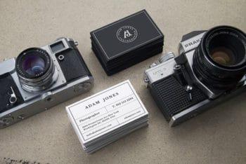 Vintage Cameras Mockup Freebie in PSD