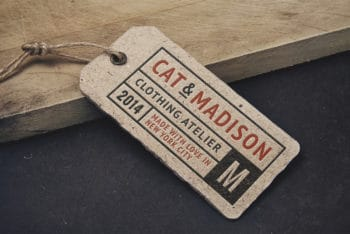 Vintage Label Tag Mockup Freebie