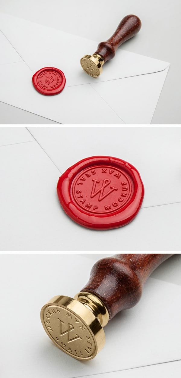 Wax Seal Stamp Mockup Freebie In PSD