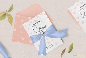 Classy & Beautiful Wedding Invitation Card Mockup