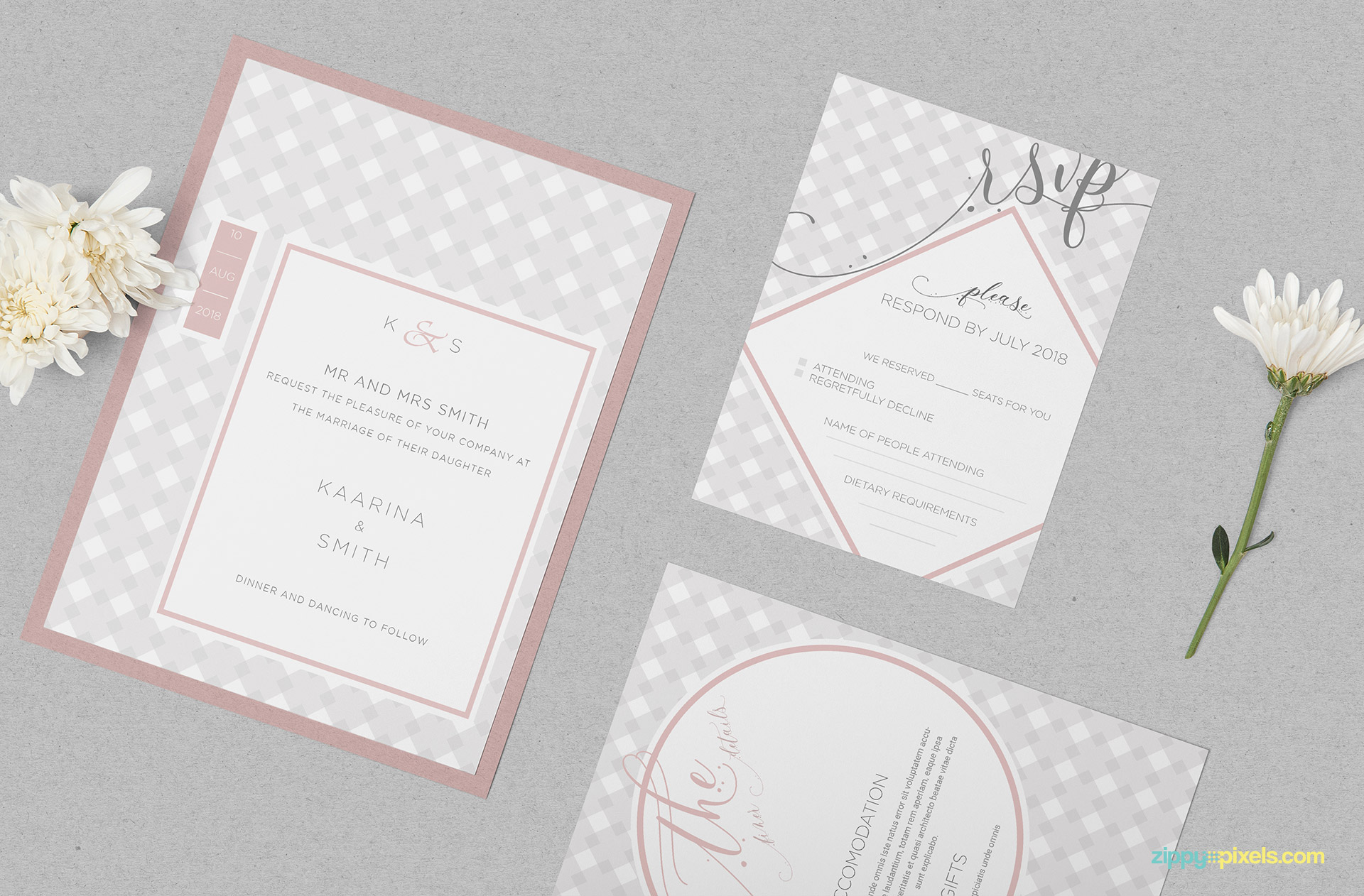 Wedding Invitation Card PSD Mockup Download Free DesignHooks