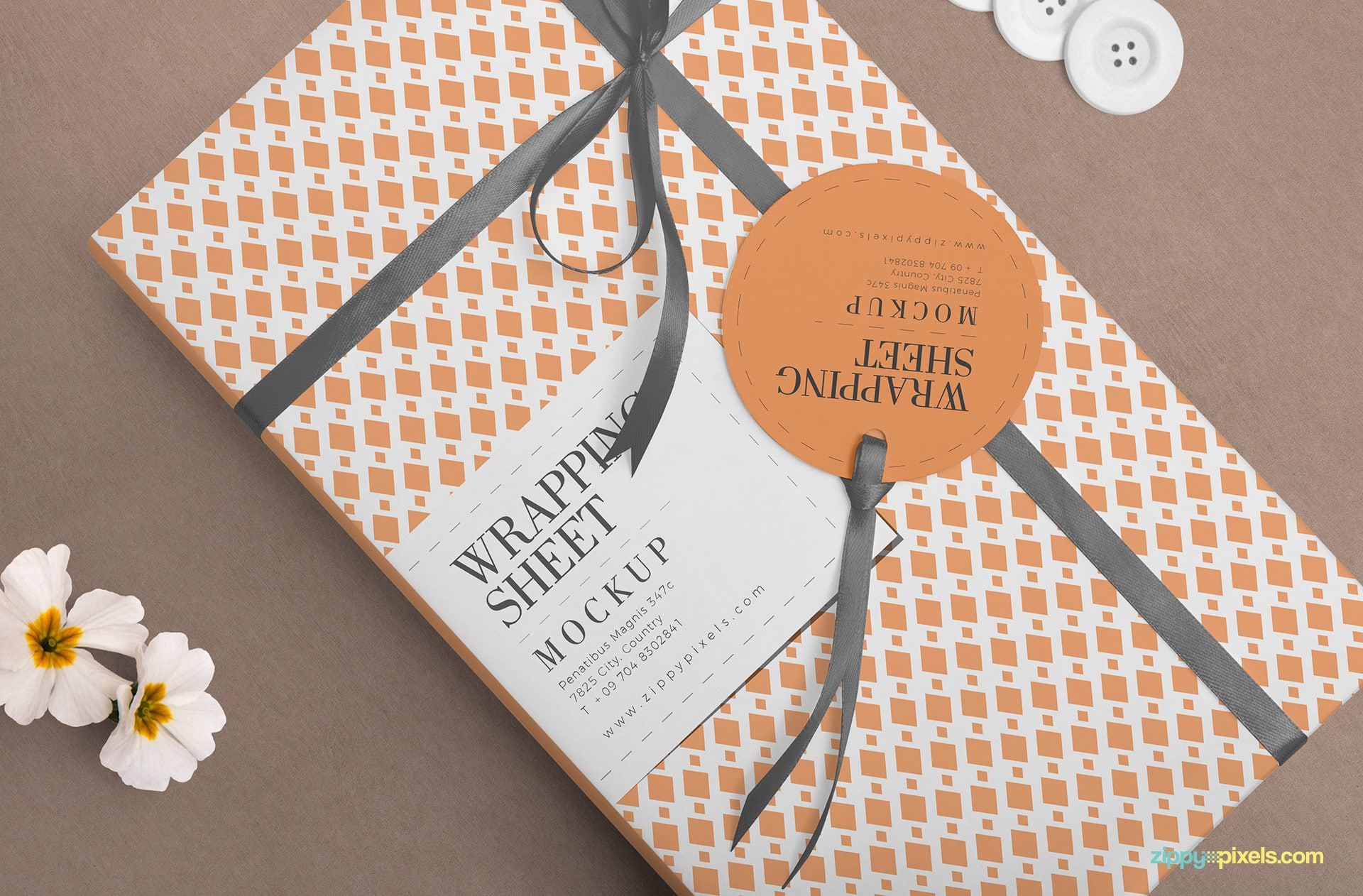 Wrapping Paper PSD Mockup Design