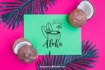 Free Hawaii Vacation Concept Mockup