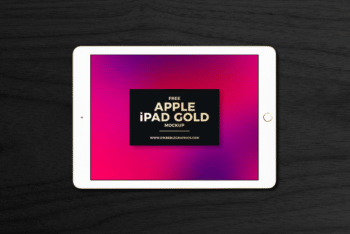 Apple iPad PSD Mockup with Exclusive Features & Excellent Look