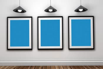 Art Gallery Mockup in PSD