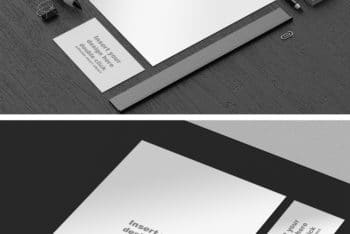 Free Monochrome Office Tools Mockup