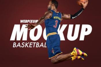 Free NBA Basketball Dunk Mockup