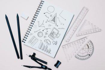Starter Architect Tools Scene Mockup Freebie