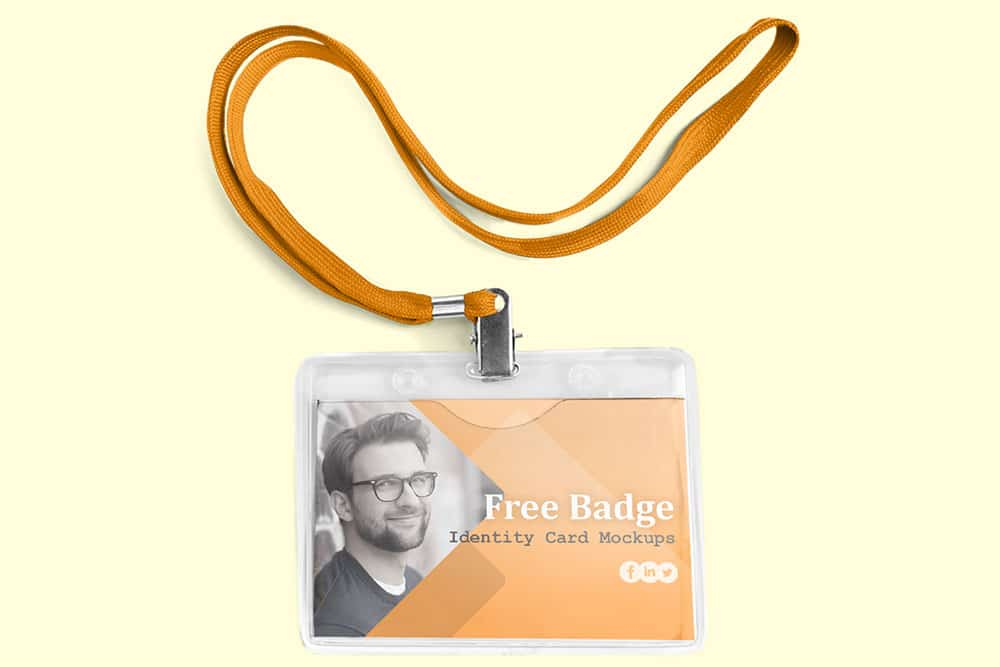 badge identity card mockups