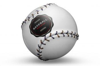 Free Pristine Baseball Mockup in PSD