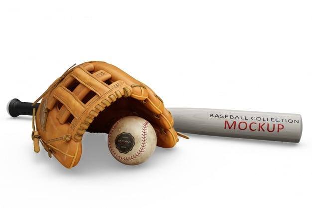Baseball Equipment Mockup