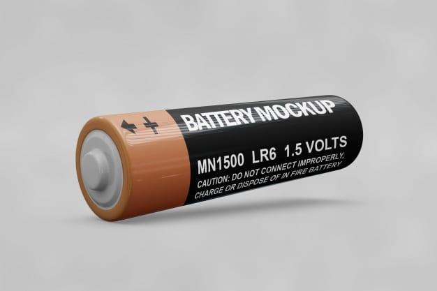 Customizable Battery Mockup