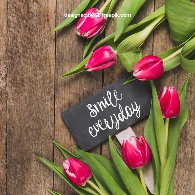 Flowers Plus Inspirational Message