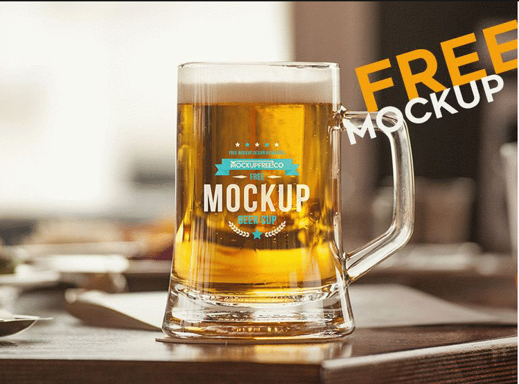 Beer Mug PSD Mockup