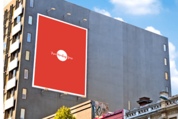 Wall Billboard PSD Mockup for Boosting Your Outdoor Advertising