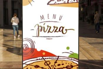 Free Pizza Billboard Mockup in PSD
