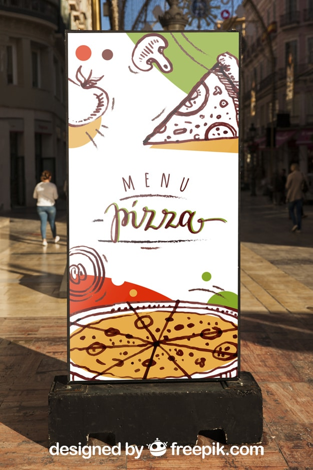 Pizza Billboard Mockup