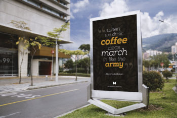 Free Download Outdoor Advertising Mockup in PSD