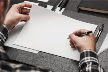 Free Customizable Blank Page Mockup in PSD