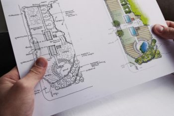 Free Small Blueprint Mockup in PSD