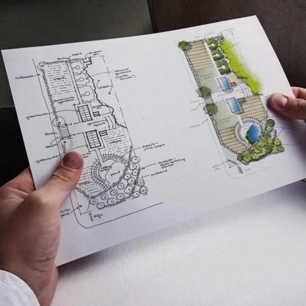 Small Blueprint Mockup