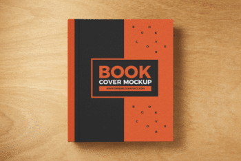 Book Cover PSD Mockup with Sober Look & Professional Touch