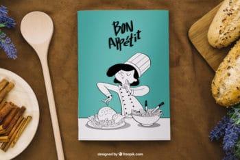 Awesome Cookbook Scene Mockup Freebie