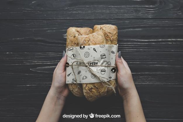 Customizable Bread Mockup