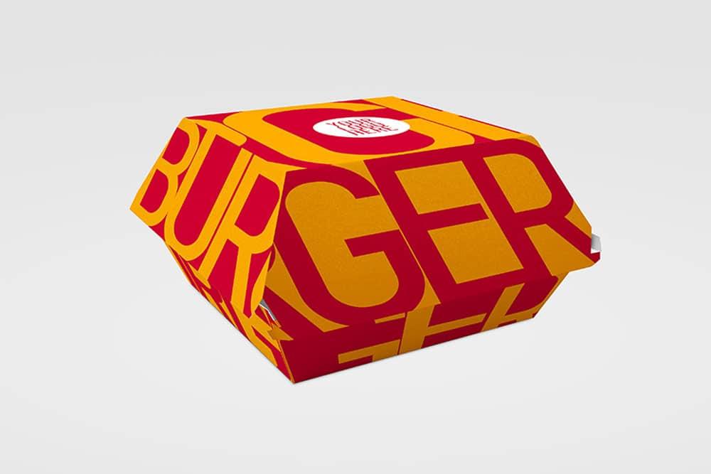 Download This Free Burger Box Mockup In Psd Designhooks
