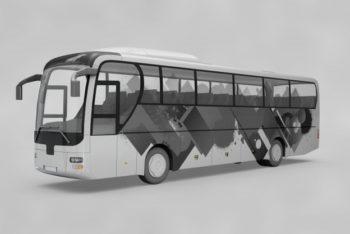 Free Customizable Bus Mockup in PSD