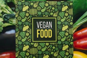 Free Customizable Vegan Food Mockup in PSD