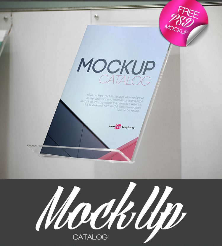 Catalog PSD Mockup Design