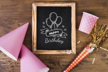 Free Birthday Pack Mockup in PSD