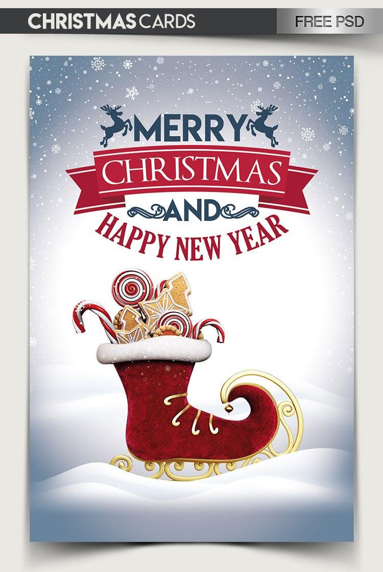 Christmas Card PSD Mockup