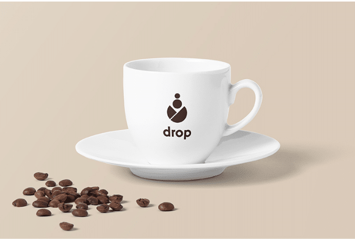 Sober Design for Coffee Cup PSD Template