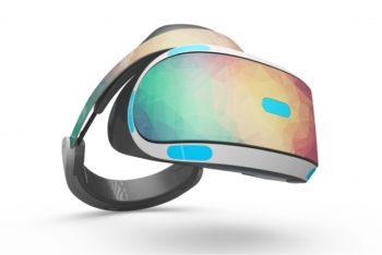 Colorful VR Headset Mockup Freebie