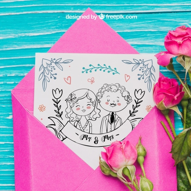 Couple Postcard Mockup