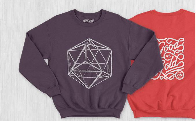 Men Sweatshirt PSD Mockup Free Design