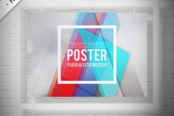 Beautiful Crystal Frame Mockup in PSD