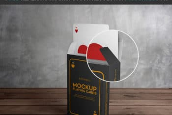 Playing Cards Mockup Freebie in PSD