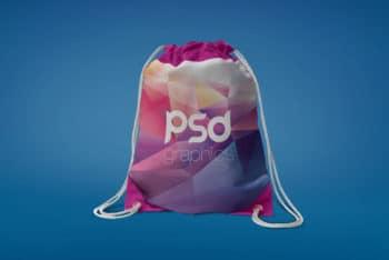 Drawstring Bag Mockup in PSD