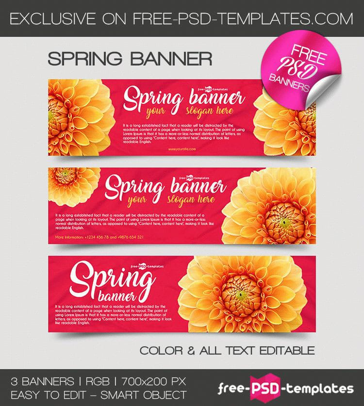 Spring Banner Mockups