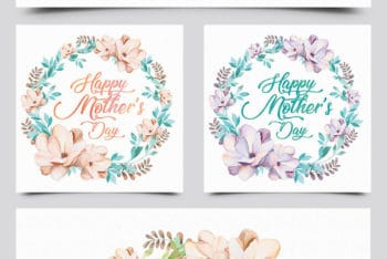Free Mother's Day Card Mockups in PSD