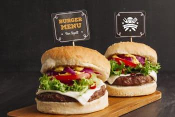 Delicious Fast Food Hamburger Mockup Freebie
