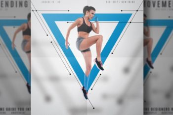 Free Customizable Fitness Flyer Mockup in PSD